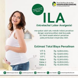 Estimasi Tarif Persalinan Metode ILA RSKIA Harapan Bunda Bandung
