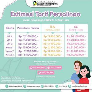 Estimasi Tarif Persalinan RSKIA Harapan Bunda Bandung